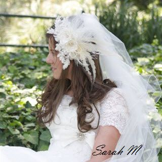 Sarah M looks just divine on her Wedding day.