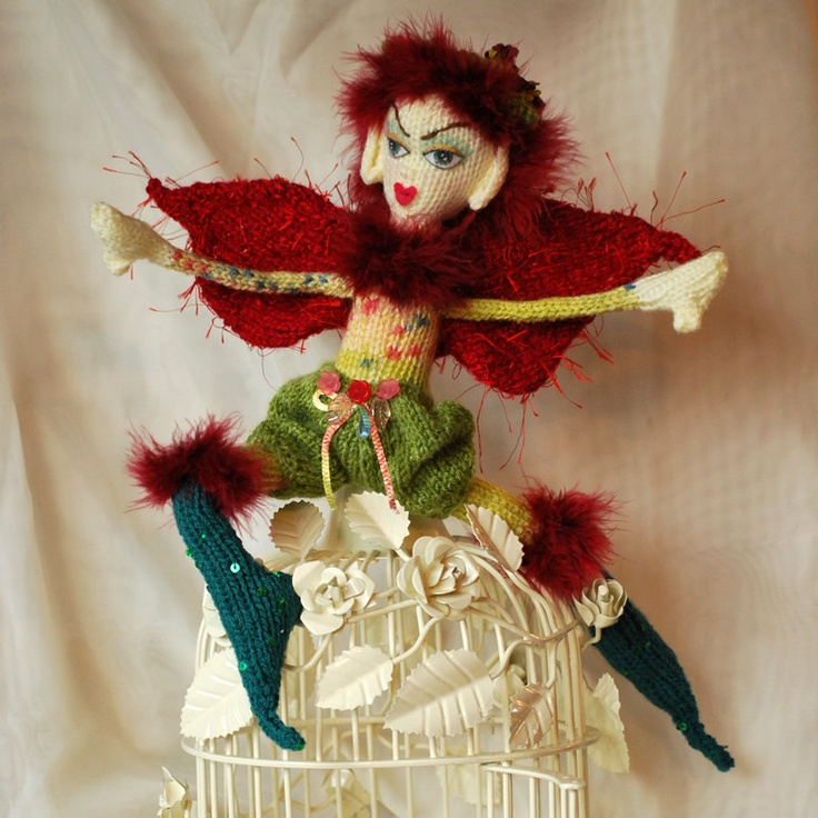 Fairy Doll Fantasy OOAK (One of a Kind) Hand Knitted  Fantasy Fairy Craft Doll. £45.00, via Etsy.Fairies Crafts, Fantasy Fairies, Fairies Dolls, Crafts Dolls, Fairies Parties, Fairy Dolls, Fairy Crafts, Dolls Fantasy, Knits