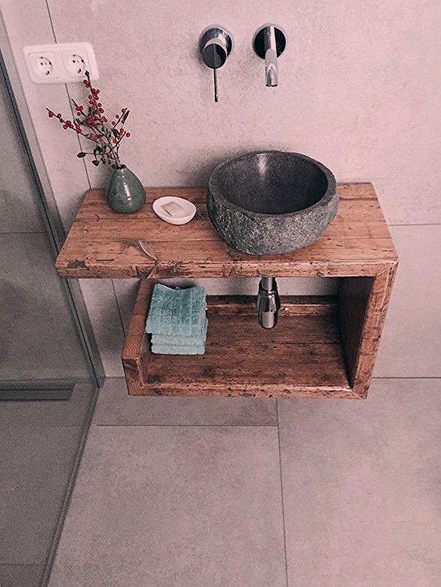 Lavabo Ancien En Bois Meuble Vasque Meuble Vasque Etagere Lavabo Badezimmer Ideen Aufbewahrung Ablage Sink Cabinet Wash Basin Wood Vanity