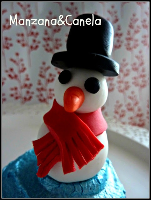 Cupcake con muñeco de nieve