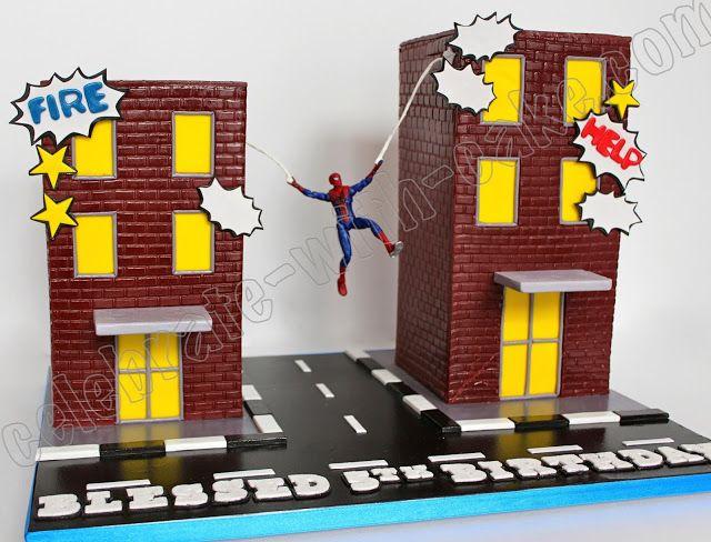 Celebrate with Cake!: Spiderman Buildings Cake