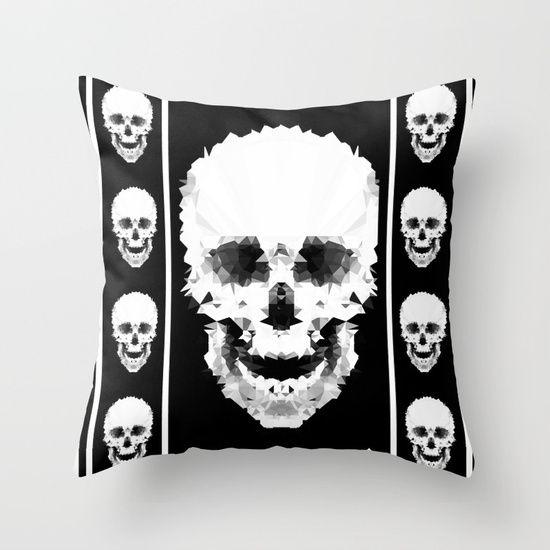 Черно-белый абстрактный узор.  Бросить подушку