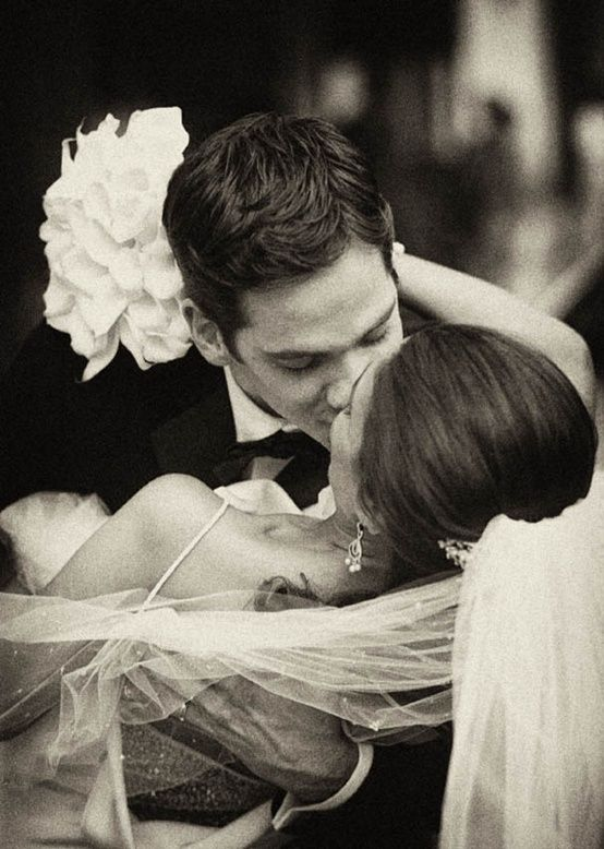 I need a picture like this- mixture of the first dance and second kiss as husband and wife. Adorable.
