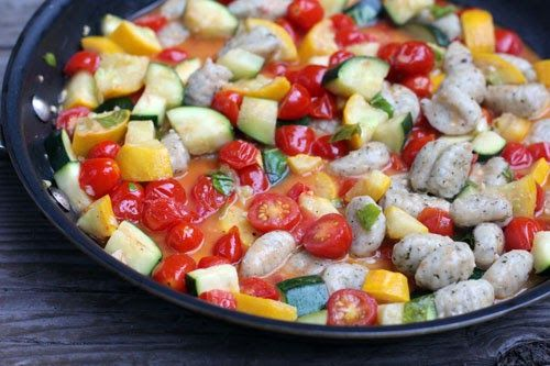 Gnocchi with Summer Vegetables | Recipes | Pinterest