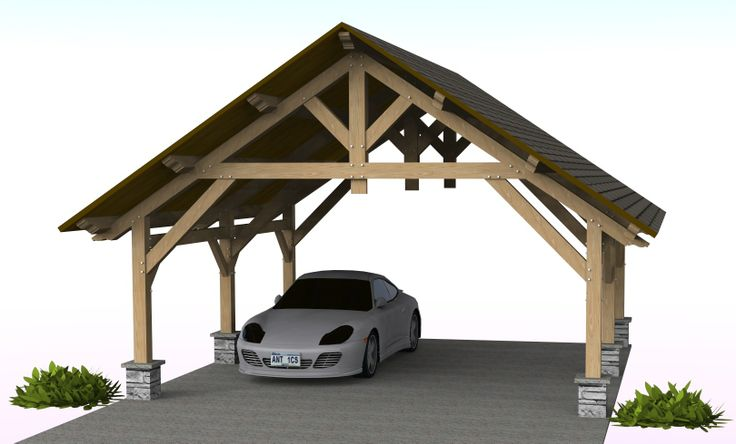 8 best timber frame pavilion plans images on pinterest for Timber frame carport plans