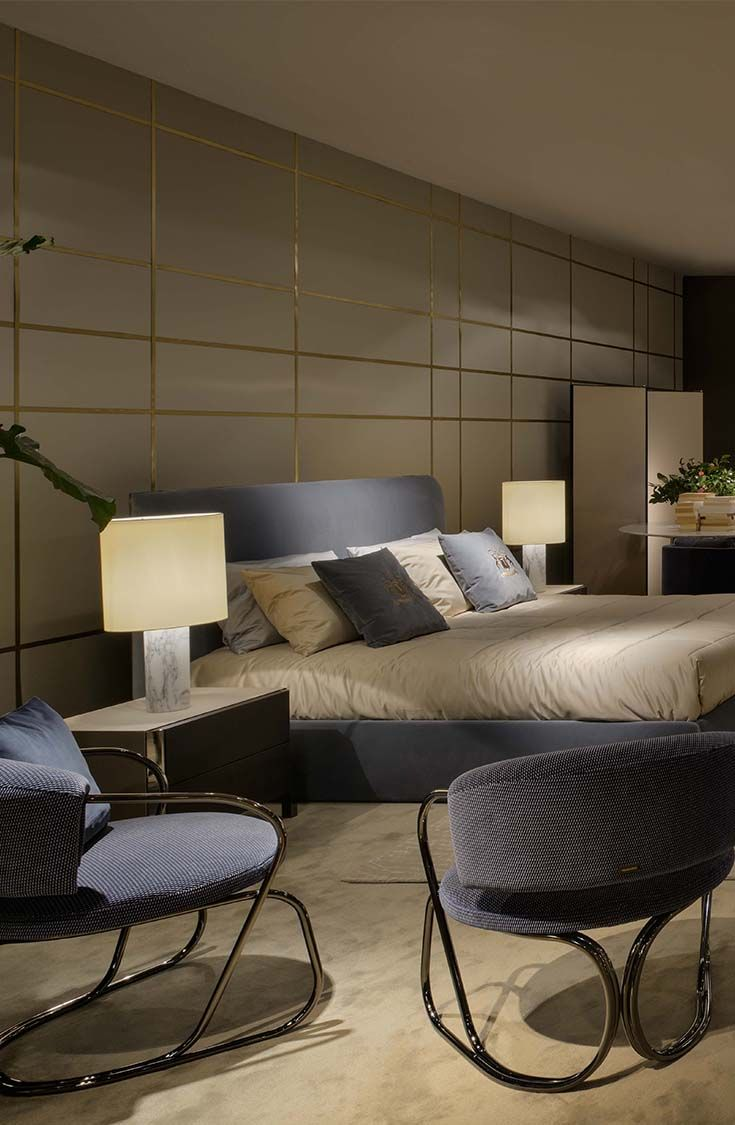 Band bedroom, from Trussardi Casa's first home collection launched in 2014 during Milan Design Week