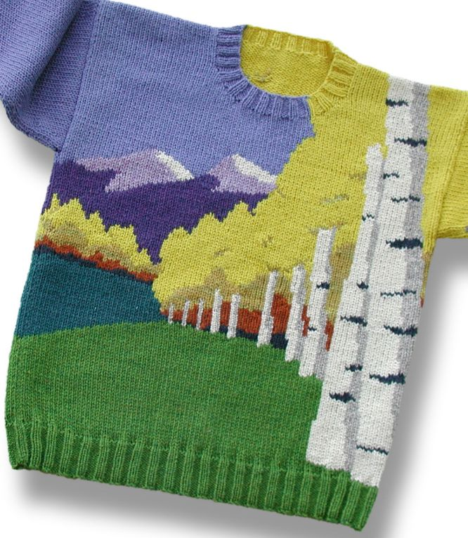 Free pdf pattern with graphs for this incredible landscape | © Sweaterscapes www.sweaterscapes.com