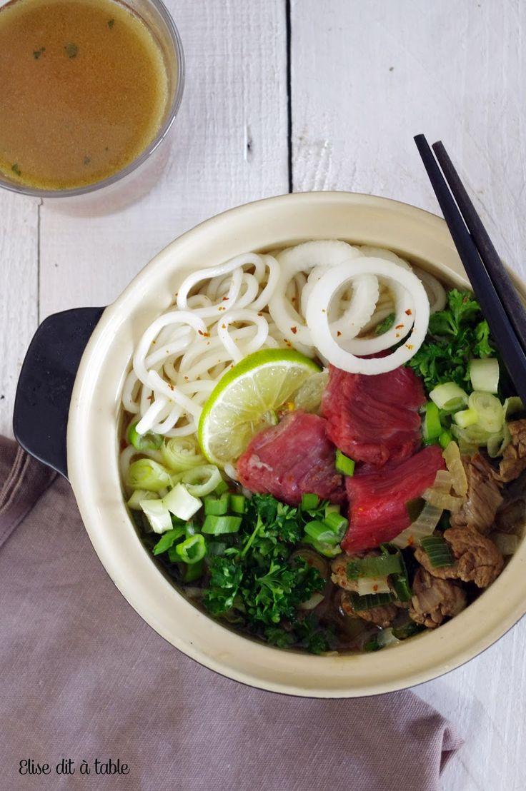 recette asiatique : Pho au boeuf