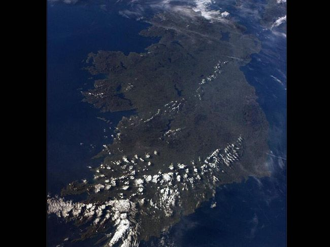Astronaut Reid Wiseman captures crystal clear image of Ireland from the International Space Station.
