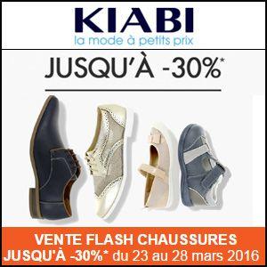 Vente Flah Chaussures sur KIABI, remise jusqu'à 30 % par icii http://www.miss-bon-reduction.fr//details-bon-reduction-KIABI-i251-c1824877.html