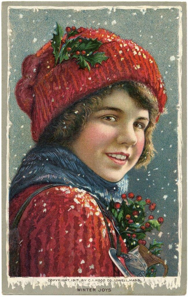 Vintage Christmas Image The Graphics Fairy