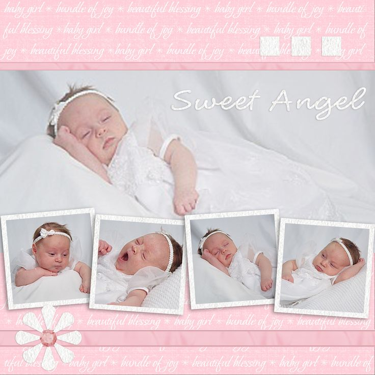 """baby scrapbook pages"" 