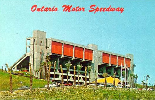 Vintage ontario motor speedway postcard claremont the for Los angeles motor speedway