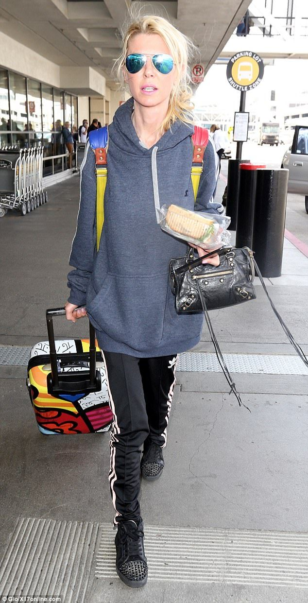 Arrivals:Tara Reid was pictured looking worryingly thin at LAX airport on Monday