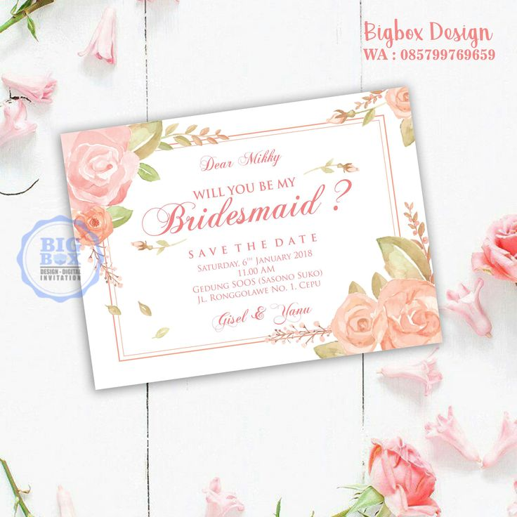 Bridesmaid card for Gisel & Yanu wedding. (1 sisi) Thank you. . . . Whatsapp/Line 085799769659 . . . #bridesmaid #groomsman #bridesmaidcard#bridesmaidcardsemarang #groomsmancard #kartubridesmaid #kebayajumputan #batikjumputan #kartugroomsman #attireguide #attireguidecard #undanganunik #undangan #undangansosmed #digitalinvitation #bigboxdesign #undanganelektronik