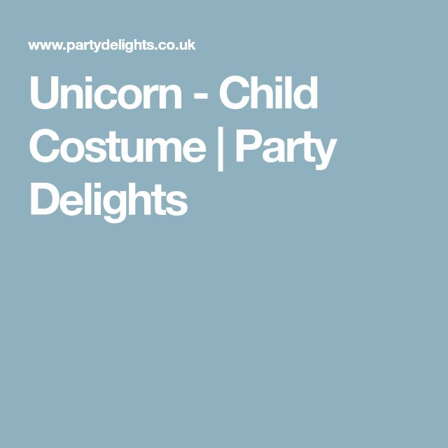 Unicorn - Child Costume | Party Delights
