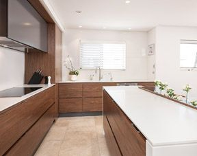 Practicality and uniqueness, their kitchen has both
