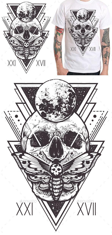 Skull Sacred Design I - #Designs #T-Shirts Download here: https://graphicriver.net/item/skull-sacred-design-i/20304151?ref=alena994