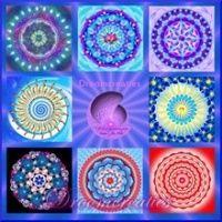 Set van 20 mandala meditatiekaarten 9 x 9 cm - www.droomcreaties.nl