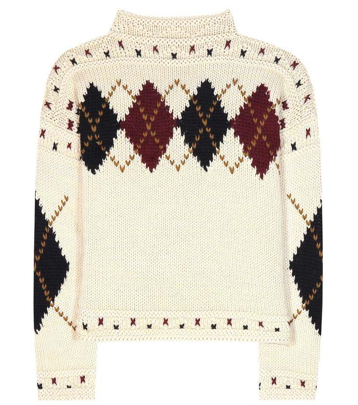 Pull ivoire en laine et alpaga mélangés