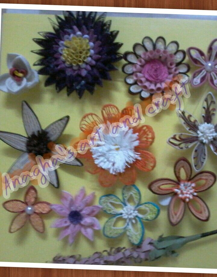 50 quilled flowers course