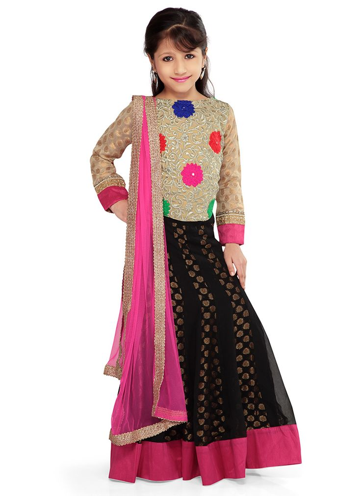 Black K and U #lehenga choli