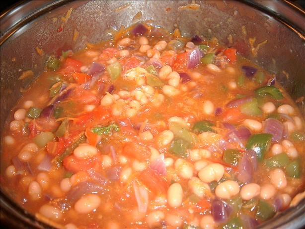 Chakalaka from Food.com: Recently enjoyed my first meal at a local South African restaurant here in Brooklyn. There we enjoyed this fabulous side dish - a spicy revamped rendition of baked beans. Of course, this sent me in search of a recipe to prepare at home. Found this one on the Internet and plan to try it soon. The original called for three times the amount of oil but I plan to make it as presented.