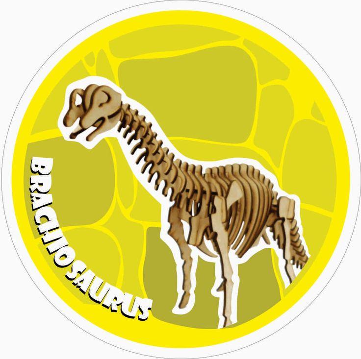 Brachiosaurus 3D Puzzle DXF Plan -