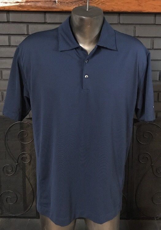 Nike Golf Dri Fit Polo Shirt Blue Men's Size Large #2 #Nike #PoloShirt