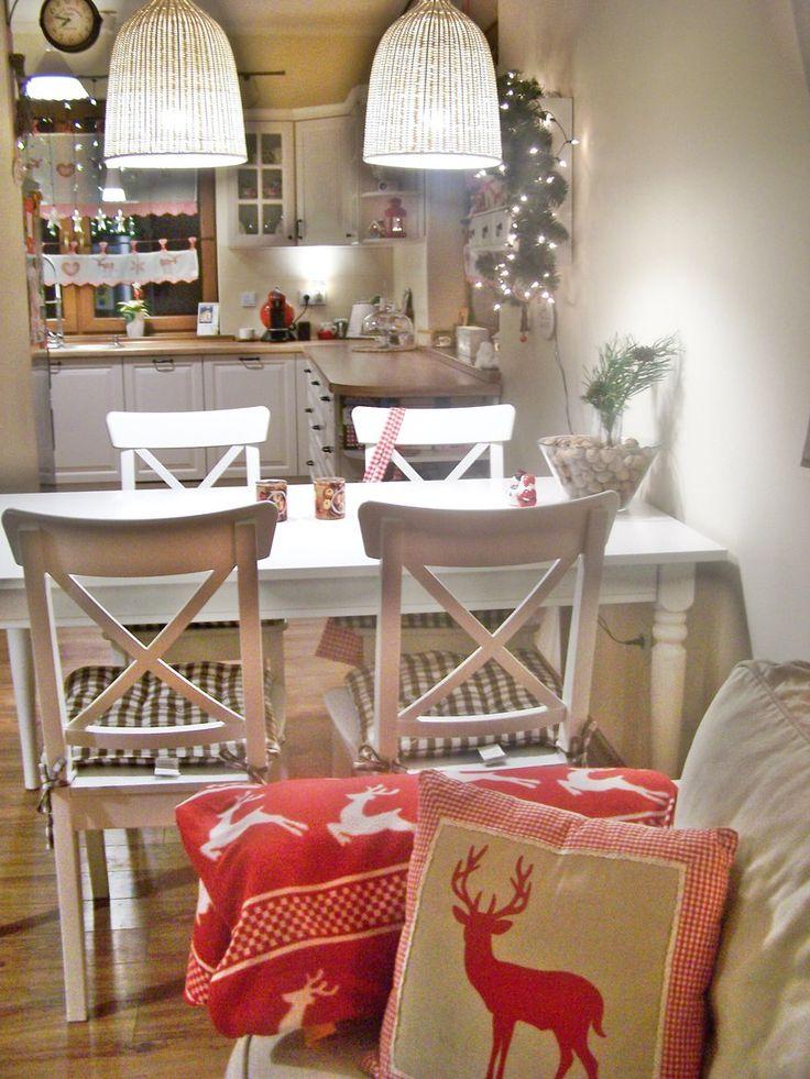 Wnętrza, ...i w kuchni zapachniało świętami;))) - ...to nasze pierwsze święta w tym miejscu, tak wyczekane i wymarzone, dlatego musiałam zaszaleć z dekoracjami;)))...zapraszam na pierniczki i...