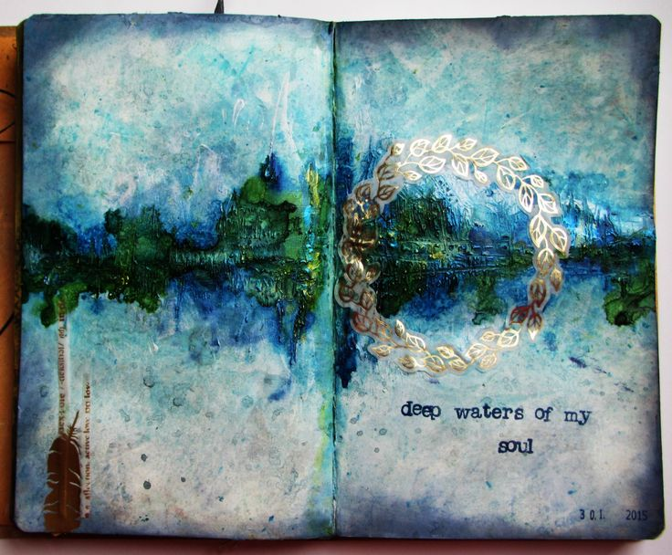 art journal Deep Waters
