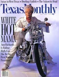Texas Monthly Magazine July 1992 Cover - Ann Richards ~ Governor of Texas from 1991 to 1995