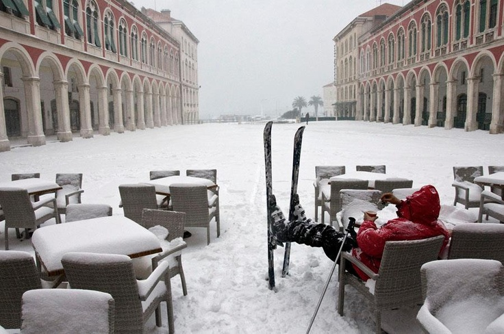 Winter Weather in Split, Croatia