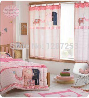Style japonais et coréens enfants chambre fenêtre rideaux pour chambre de bébé rideau de bande dessinée pour enfants bébé rideaux pour salon corina