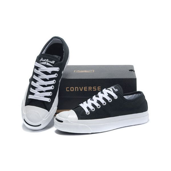Buy Converse Jack Purcell Laces Black Low Top Canvas Shoes OL22302 via  Polyvore