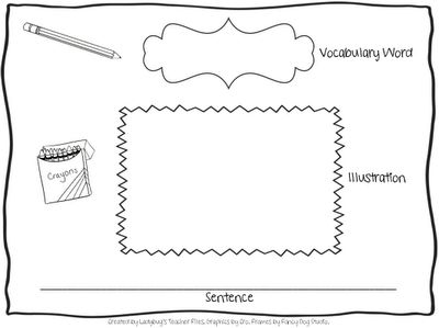 Vocabulary Graphic Organizer. OBSESSED with this website! So many ideas and printables!