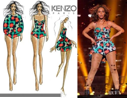 Beyonce in Kenzo - Mrs Carter World Tour in Milan
