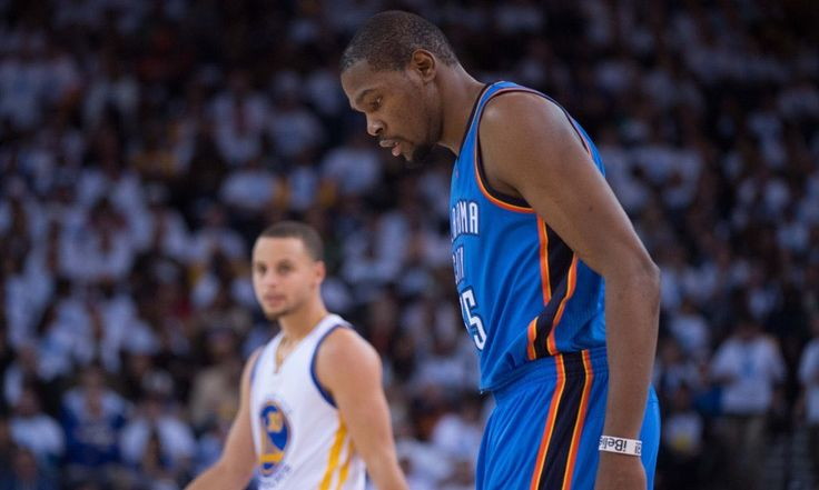 Kevin Durant & Stephen Curry Golden State Warriors vs Oklahoma City Thunder