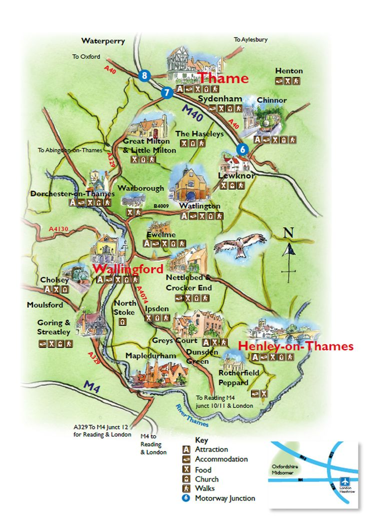 South oxfordshire towns villages and hamlets the for Site de location