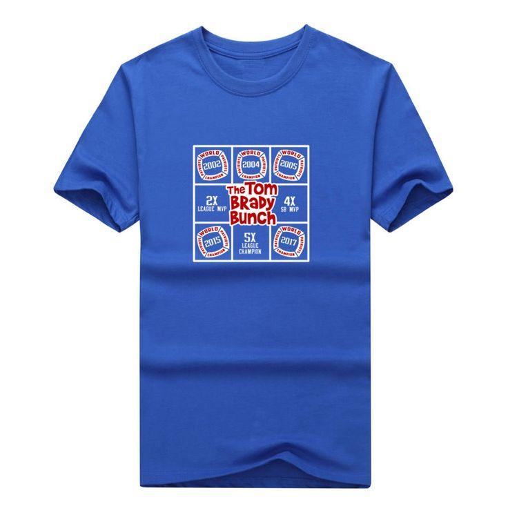 Tom Brady Bunch 5 Time Patriots 2016 SUPER BOWL LI CHAMPIONS T-shirt 100% cotton New England T Shirt 0206-2