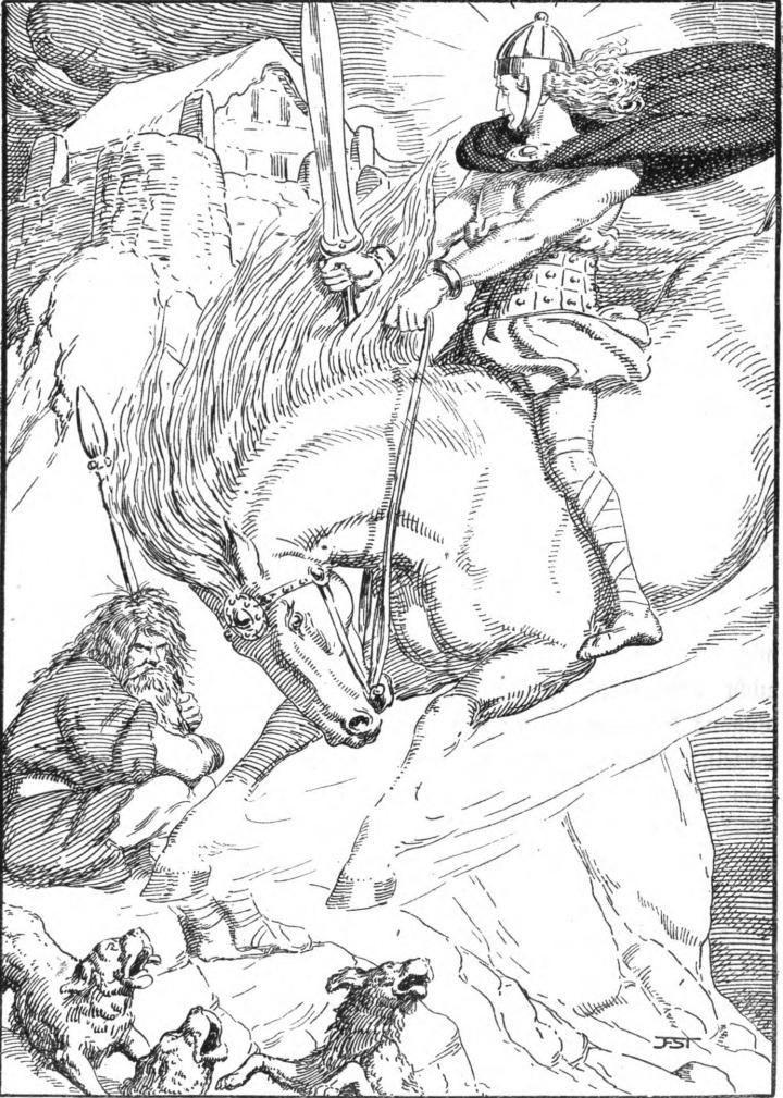 Skirnir and the Shepherd  Illustrations from Die Edda