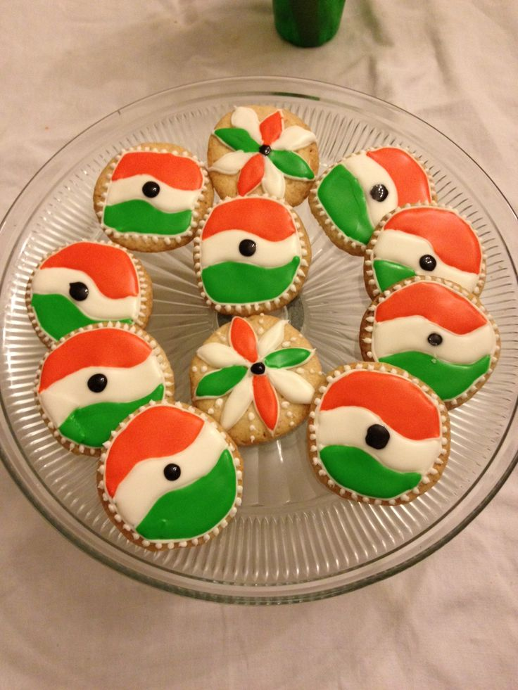 Indian Independence Day cookies. This is a Indian flag ...