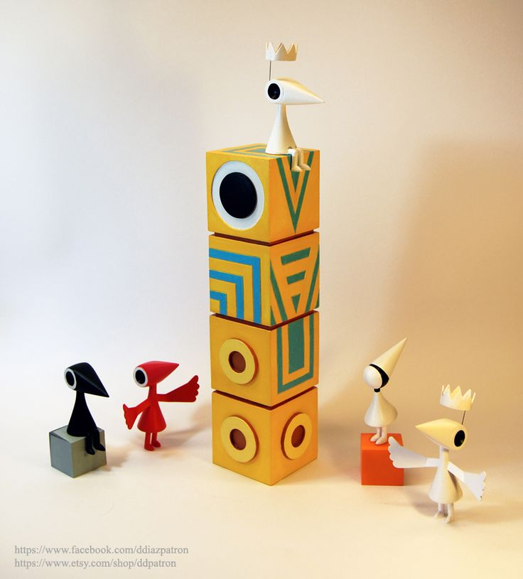 The Family of Monument Valley Game. (The Totem's eye is magnetic. You can move it.)