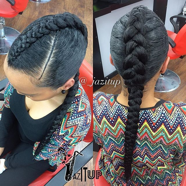 Cute And Simple ☺️ One Large Feed In Braid Jazituphair