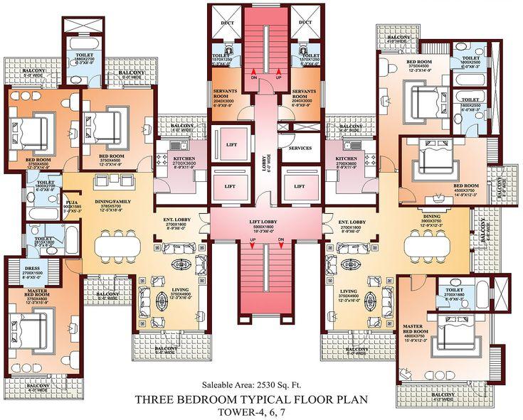 3 Bedroom Apartments Inside 3 Bedroom Apartment Building Floor Plan Luxury Apartment Floor