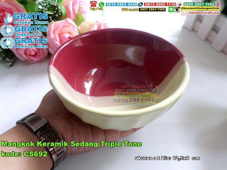 Mangkok Keramik Sedang Triple Tone 0896.3012.3779  (WA/SMS/Telp) PIN BBM: 5c8 62 c4b #MangkokKeramik #PabrikKeramik #HargaSouvenir