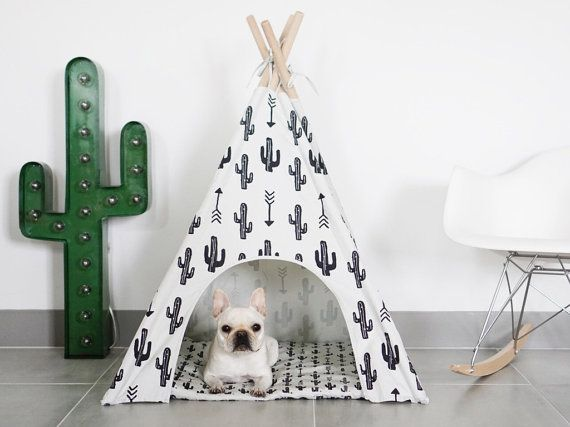 Cactus Dog Teepee by pipolli on Etsy