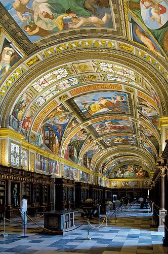 Library of Royal Monastery of San Lorenzo del Escorial | http://en.wikipedia.org/wiki/El_Escorial