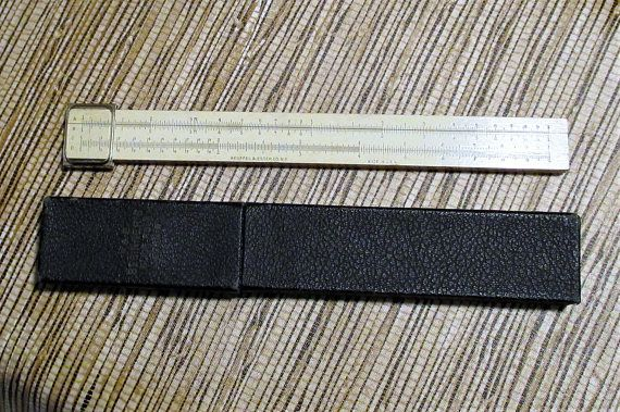 1923 Keuffel and Esser Beginners Slide Rule 4058W Mannheim