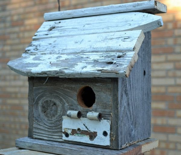 $42.00 rustic birdhouse - ozark cabin - recycled birdhouse by christian